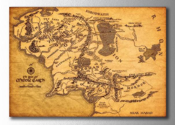 Orta Dünya Haritası
