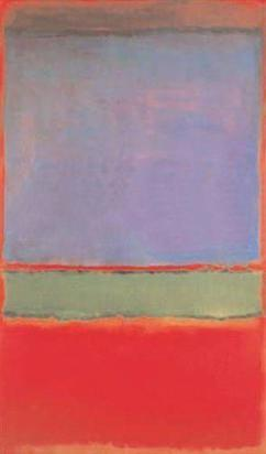 No. 6 (Violet, Green and Red) - Mark Rothko (1951)